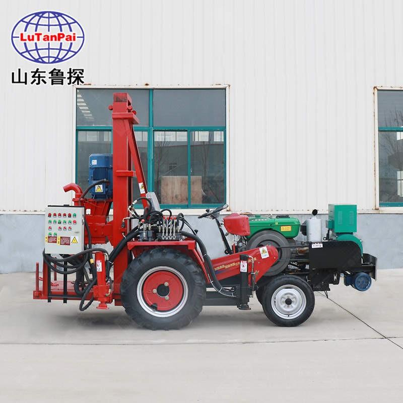 鲁探直销拖拉机打井机JZ-C钻井设备 大功率 钻井机家用小型