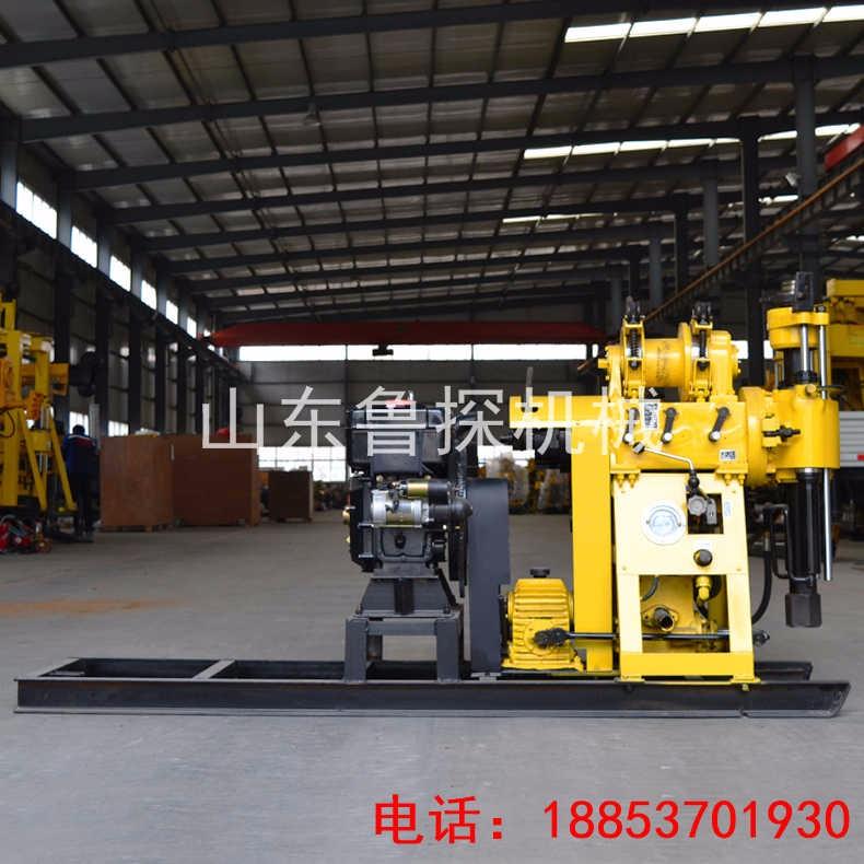 山东鲁探地质勘探钻机HZ-200Y液压岩芯取样钻孔机 柴油机款