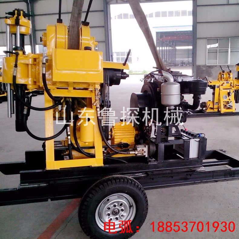地质勘察钻机山东鲁探厂家直销XYX-200型轮式液压工程岩芯钻机