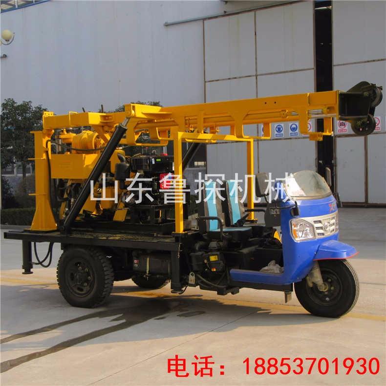 三轮车载岩芯勘探钻机XYC-200A山东鲁探全液压取样钻机