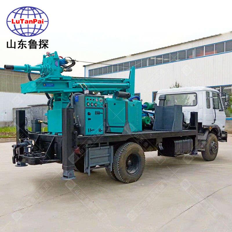 山东鲁探CJC-300车载式气动水井钻机钻孔深进尺快
