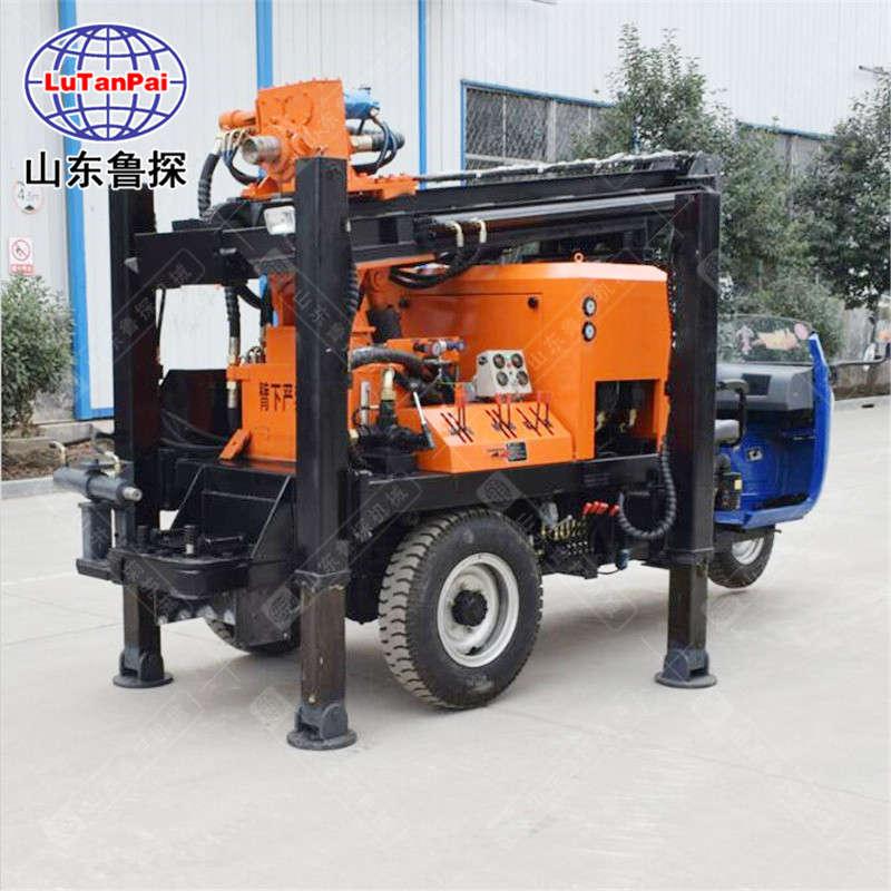 山东鲁探CJC-200车载式气动水井钻机工程打井设备操作简单