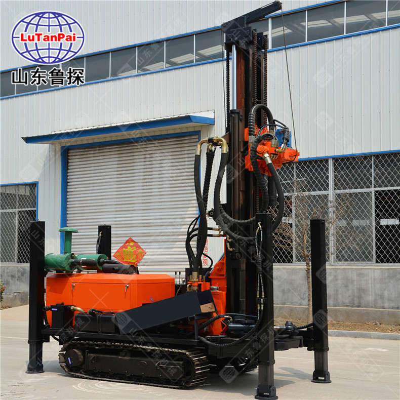 山东鲁探CJDX-200履带式气动打井钻机农用钻井机打岩石速度快