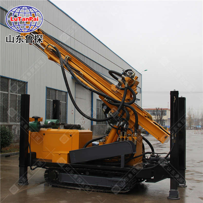 山东鲁探CJD-300履带式气动水井钻机深水井打井设备