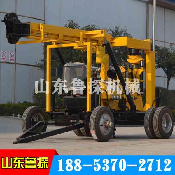 新款XYX-3液压勘探钻机动力强拖车式岩心钻机搬迁方便