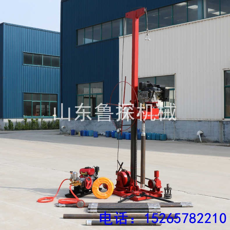 山东鲁探QZ-3便携式地质钻机最深50米 工程勘探钻机供应商
