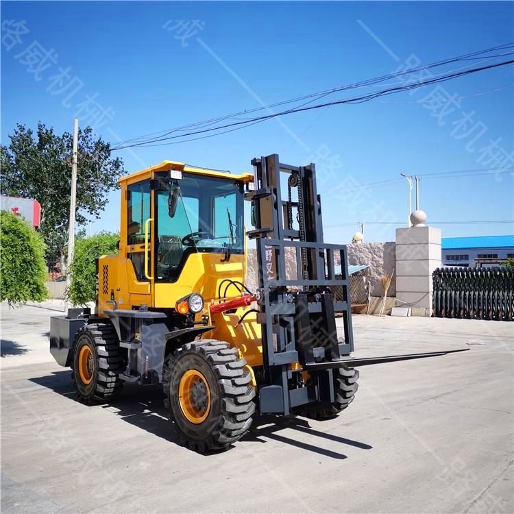 厂家直销液压内燃式叉车 3吨4吨5吨越野式叉车 四驱叉车
