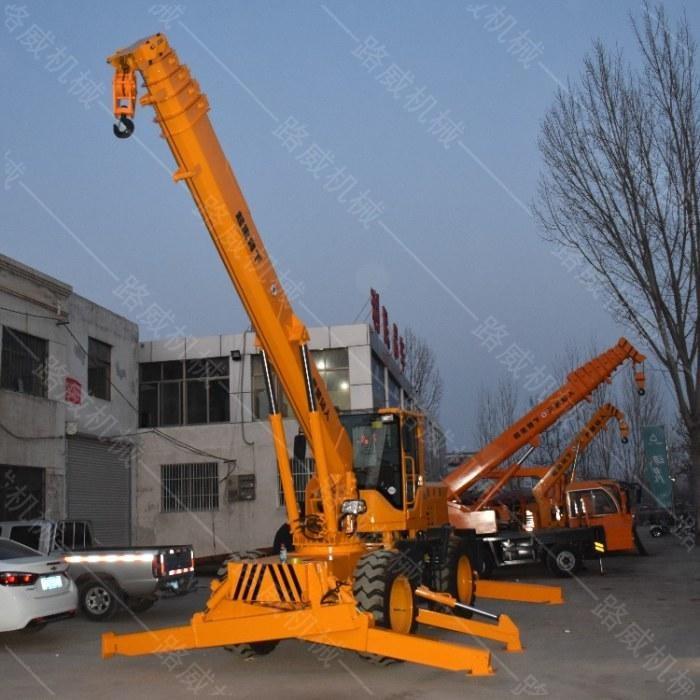 四驱越野行走吊车  5吨8吨铲车改装吊车  小型越野吊车