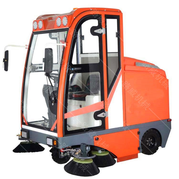 新能源自动扫地车 小型驾驶式吸尘洒水电动扫地车