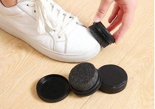 便携式塑料圆盒海绵鞋擦