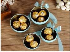 圣诞球礼物欧式球形糖盒