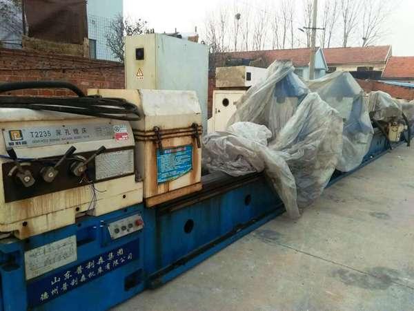 低价处理:德州产T2180x12米深孔钻镗床/镗床