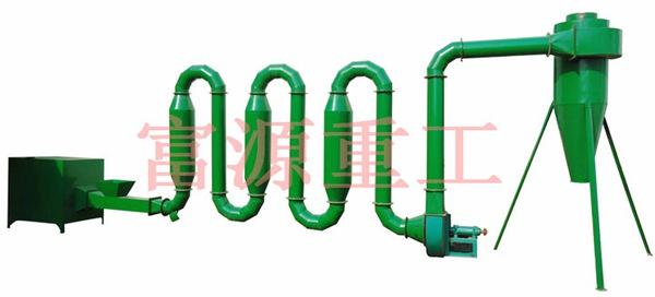 富源重工热销热气流管道式烘干机,GT800滚筒式烘干机