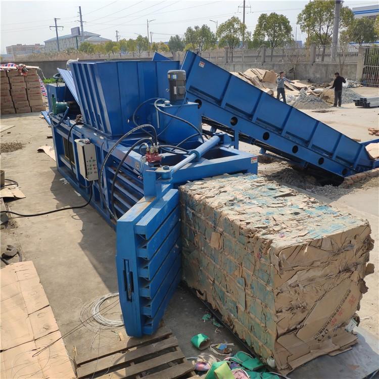 宁波大型卧式160吨废纸箱打包机设备
