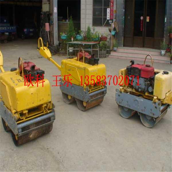 小型3吨震动汽油双轮压路机 座驾式压土机