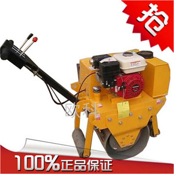 柴油单轮小碾子 双轮手扶压路机 手扶式压路机
