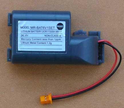 天津三菱PLC锂电池触摸屏伺服锂电池MR-BAT
