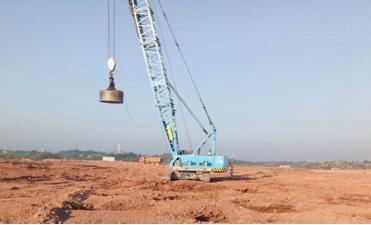 拥有专业的强夯地基施工,恒通强夯地基处理强夯技术一流,高效