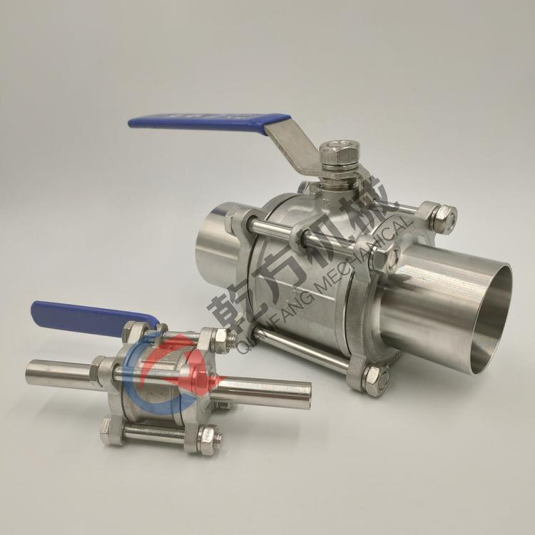 316L三片式加长自动焊接球阀 半导体行业管道抛光BA加长焊球阀