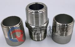 304 316L不锈钢材质  外丝接头 对丝接头 单头外丝 双头外丝 温州乾方