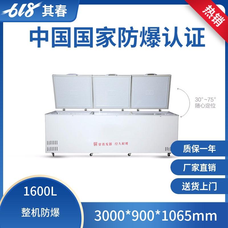 大容积卧式防爆冰柜BL-W1600/2000L带锁电子温度控制