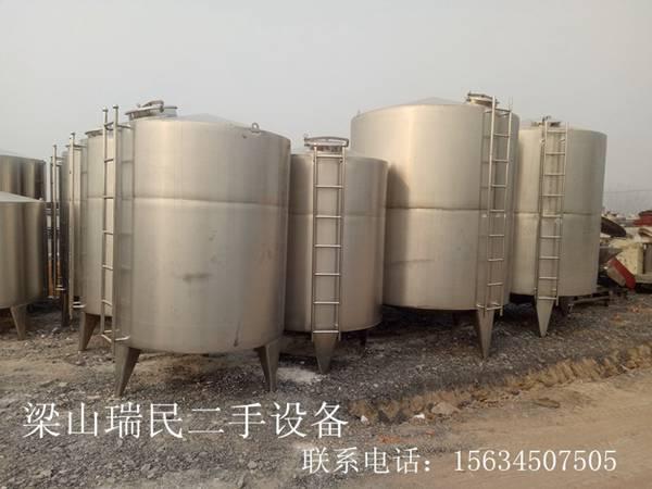 八成新不锈钢储罐,制造各种不同体积不锈钢储罐