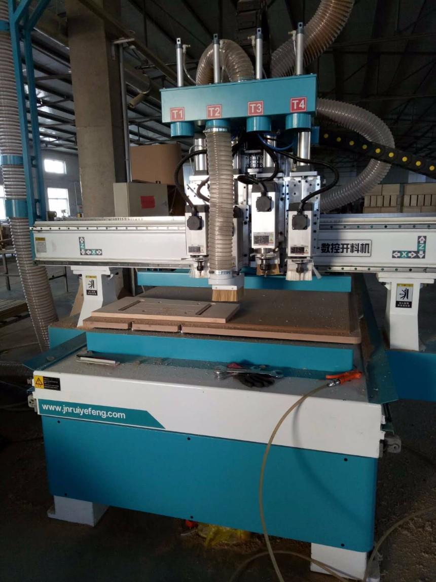 实木家具雕刻开料打孔生产设备四工序雕刻机