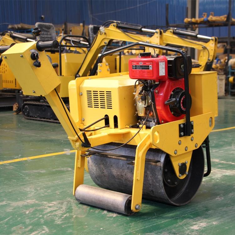 液压手扶压路机 柴油单钢轮振动压路机 道路沟槽基础压土机