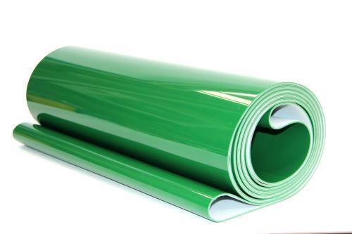 PVC输送带厂家一面PVC一面帆布输送带2.0绿色PVC输送带上海帕森输送带厂家