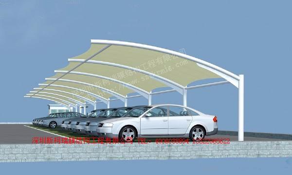 膜结构充电桩 电动汽车充电桩棚 汽车张拉膜车棚 电车膜结构雨棚