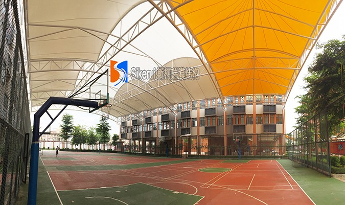 体育看台膜结构雨棚