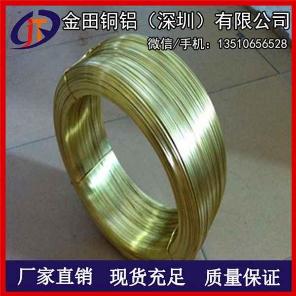 H68拉链黄铜扁线1*3mm 软黄铜线 深圳H62黄铜线硬态料
