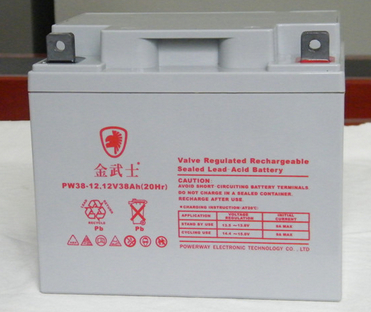金武士蓄电池PW38-12/12V38AH金武士UPS蓄电池