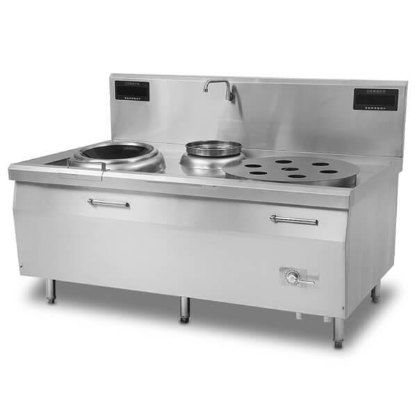 小炒蒸炉组合炉|电磁蒸炒炉|商用电磁炉厂家