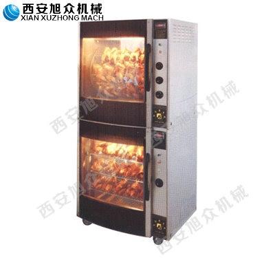 西安旭众热风循环式烤鸡炉连保温柜
