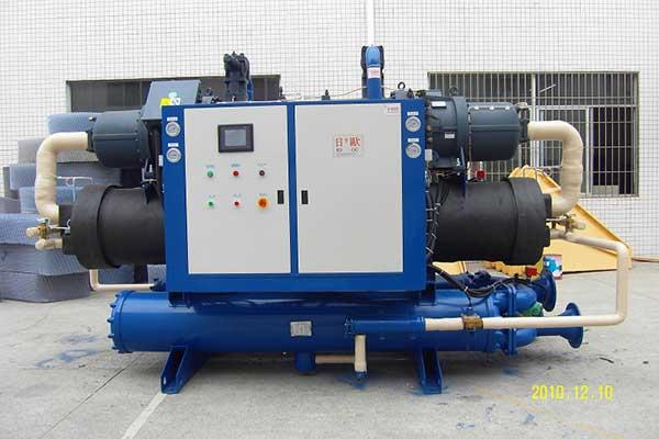 日欧水冷式螺杆冷水机环保超声波专业冷水机