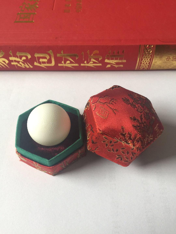 上海安宫六角锦缎盒
