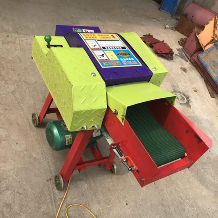 农用农作物秸秆粉碎机 干湿两用铡草机 全自动输送带铡草机