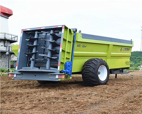 工厂直销大型绞龙有机肥撒肥机 黏湿粪肥抛撒车 鸡粪抛粪机