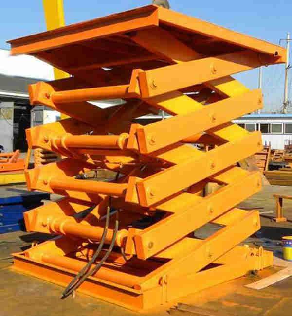 山东启运QYJCD固定剪叉式大吨位升降机