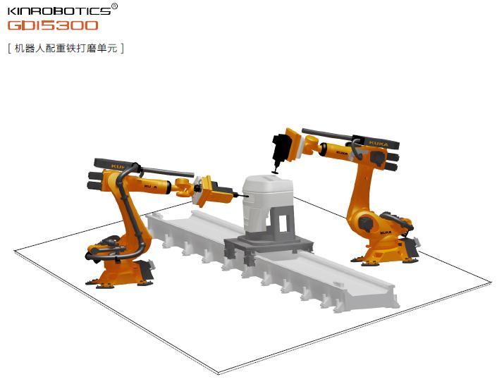 大连誉洋GDI5300配重铁打磨机器人