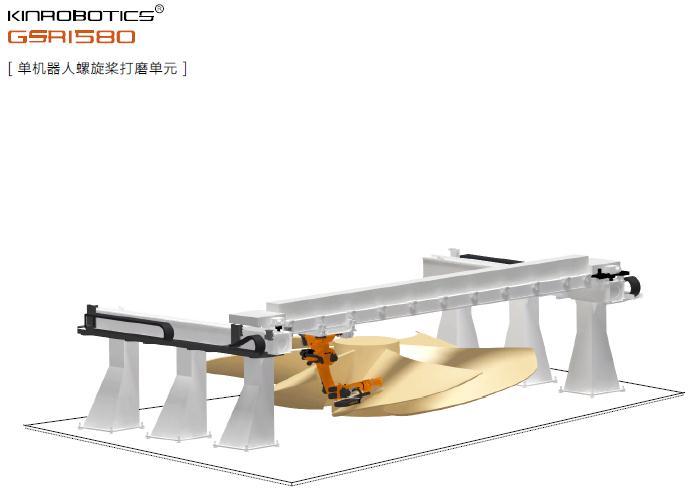 大连誉洋GSR1580螺旋桨打磨机器人