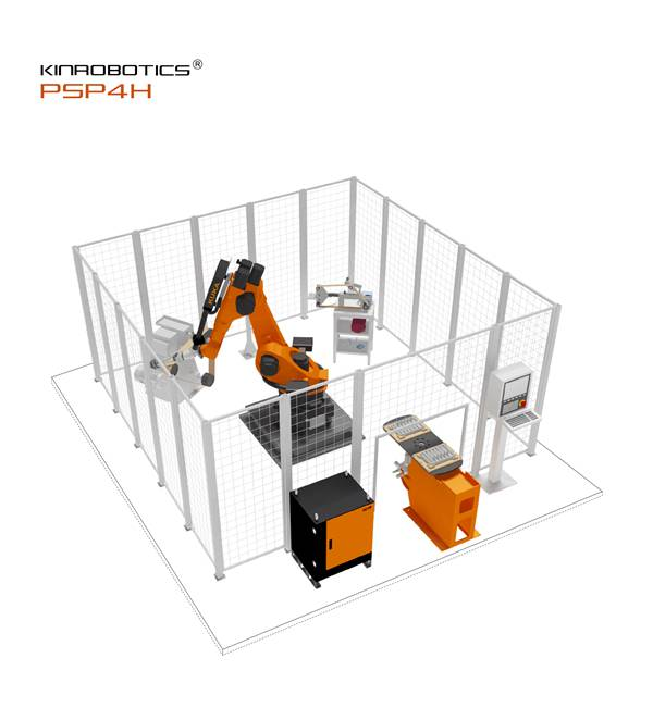 大连誉洋KR-PSP4H五金件打磨抛光单机器人