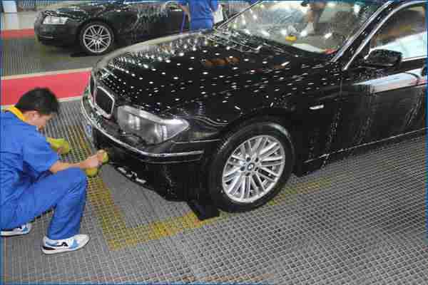 洗车店网格板