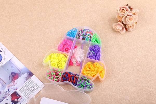 小三层(半空)盒装DIY彩虹皮筋彩虹皮筋手链