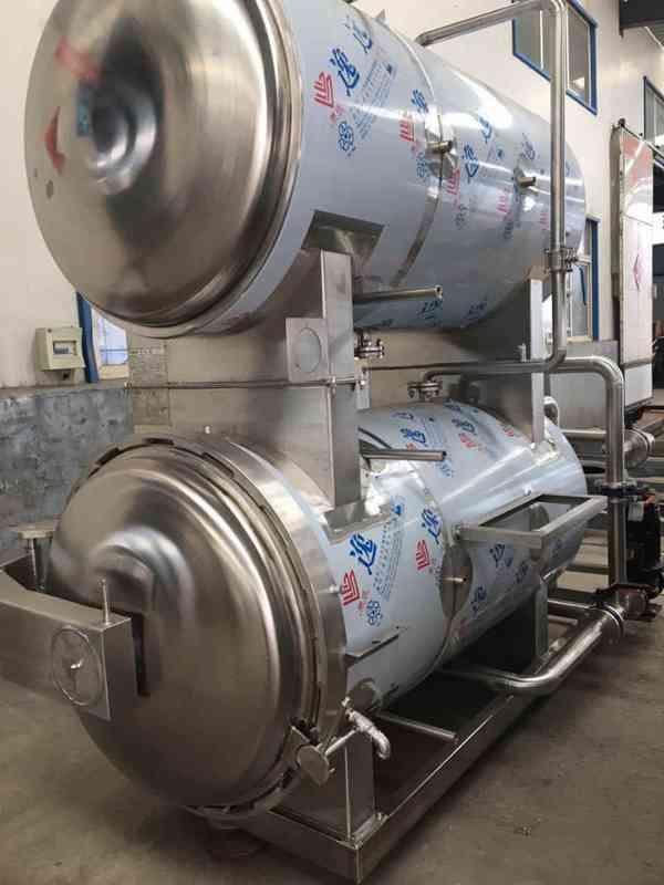 全自动杀菌锅制造商  全自动喷淋式杀菌锅