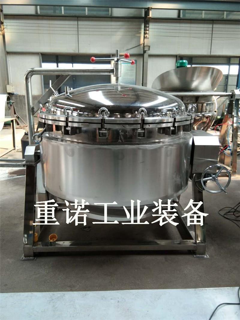 天然气可翻转猪肉夹层锅-夹层锅封头-高效节能卤煮锅