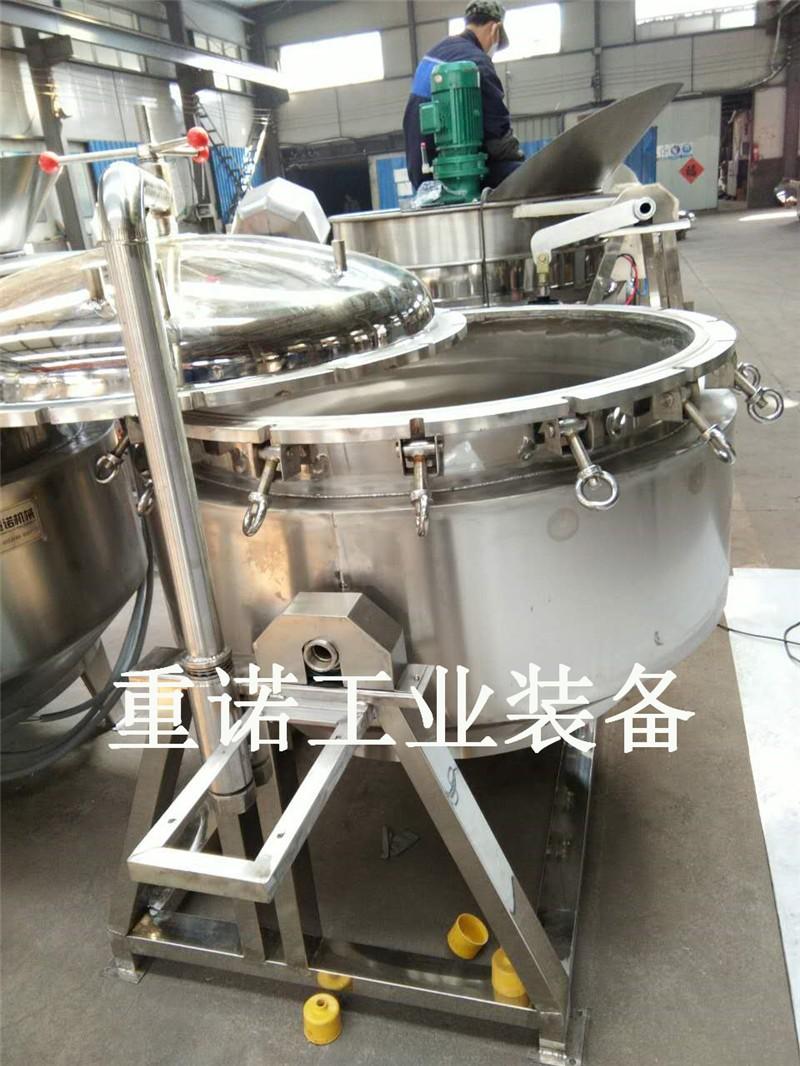 夹层锅封头-高效节能卤煮锅-江苏可倾式夹层锅