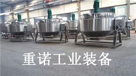 固定式夹层锅结构设计-可倾式炒锅-蒸汽夹层锅参数