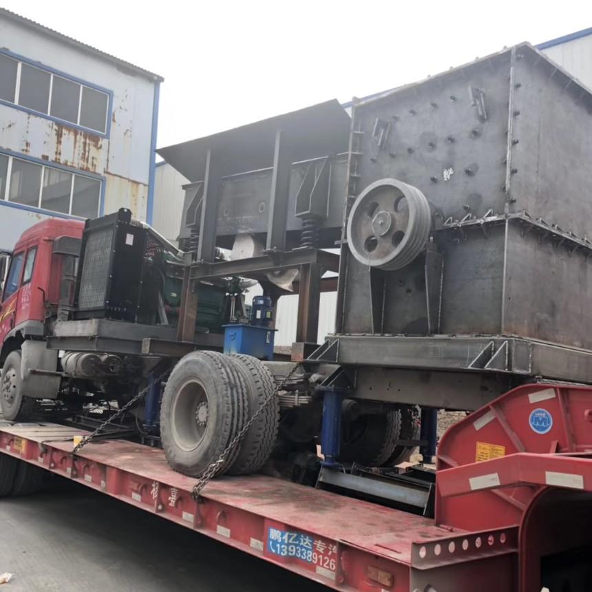 时产100吨移动式破碎机能耗低,专业处理建筑垃圾